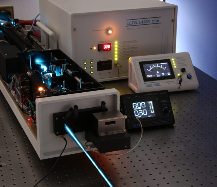 Laser with blue light